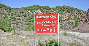 Tunceli'de bir köyde, merhum iş adamı Koç'un ismi caddeye verildi