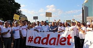 Adalet yürüyüşüne CHP Gaziantep İl Teşkilatı'ndan destek