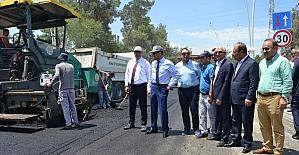 Adnan Menderes Bulvarı asfaltlanıyor