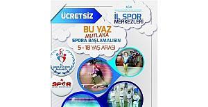 Ağrı'da Yaz Spor Okulları kayıtları devam ediyor