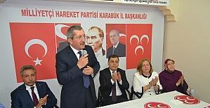 Başkan Vergili partililerle bayramlaştı