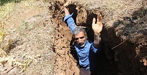 Bingöl'de yerde derin yarıklar ortaya çıktı
