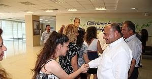 Çiğli, Bayraklı ve Urla belediye başkanı personelleriyle bayramlaştı