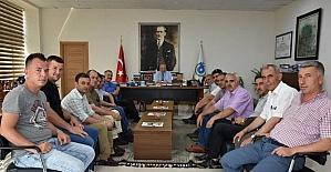 DİSK/GENEL-İŞ Sendikası Trakya Şube Başkanı Şen Albayrak'ı ziyaret etti