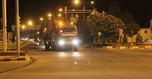 Gece Suriye sınırına fırtına obüsü...