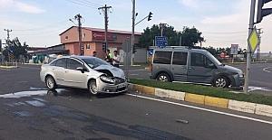 Hayrabolu'da maddi hasarlı kaza