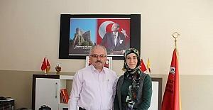 Oltu'nun Milli gururu Okul Müdürünü ziyaret etti