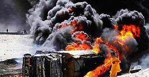Pakistan'da tanker bomba gibi patladı