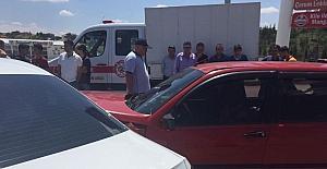 Sungurlu'da zincirleme trafik kazası: 2 yaralı