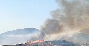 Tarihi Değirmenler Tepesi'nde korkutan yangın