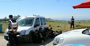 Tekirdağ'da 7 yabancı uyruklu şahıs yakalandı