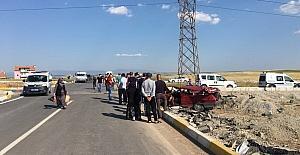 Uşak'ta trafik kazası; 1 ölü, 3 yaralı