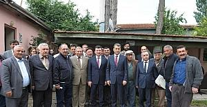 Vali Çelik, Aşağıçağlan mahallesi halkıyla bir araya geldi