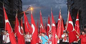 15 Temmuz'un 1. yılında Çankırılılar nöbete yürüyüşle başladı