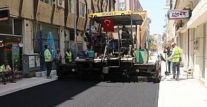 Akdeniz'de asfalt çalışmaları devam ediyor