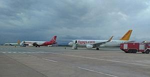 Aşırı yağış sebebiyle uçaklar Bursa'ya indi