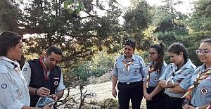 Aydın'da kamp ateşi yakıldı