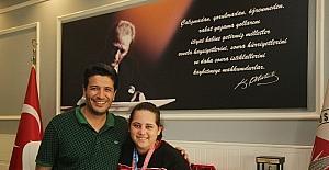 Başkan Genç, Olimpiyat Üçüncüsünü ağırladı