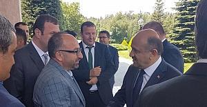 Başkan Üzülmez Başbakan Yardımcısı Işık'ı tebrik etti
