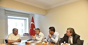 """Büyükşehir yetkilileri, Rüzgarlı esnafına """"ANPARK""""ı anlattı"""