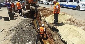 İhsaniye Mahallesinin 50 yıllık kanalizasyon hattı yenileniyor