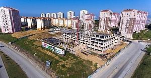 İlkadım Belediyesi'nin yeni hizmet binasının inşaatı hızla yükseliyor