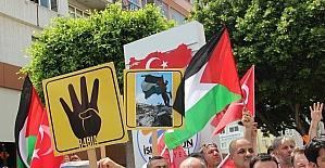 İskenderun'da Mescid-i Aksa protestosu