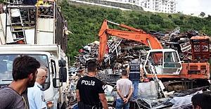 İzmit'te hurdacılara polis baskını