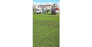 Kalp krizi geçiren İlçe Müftüsü hava ambulansı ile TÖTM'e kaldırıldı