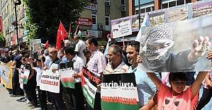 Karabük'te İsrail'e Mescid-i Aksa tepkisi