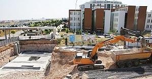 Karaman'da hastane alt geçidinde çalışmalar sürüyor