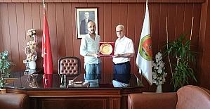 Kuntoğlu'ndan Karaman Baro Başkanı Yılmaz'a ziyaret