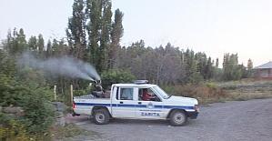 Malazgirt Belediyesinden ilaçlama çalışması