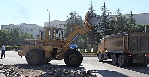 Milli İrade Caddesinde sıcak asfalt öncesi altyapı çalışmaları başladı