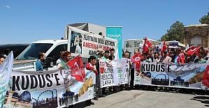 Nevşehir'de İsrail protesto edildi