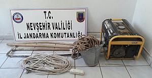 Nevşehir'de kaçak kazı yapan 3 kişi yakalandı