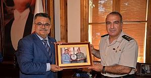 Tümgeneral Halis Zafer Koç'tan Başkan Yağcı'ya veda ziyareti