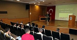 Yozgat'ta halk otobüsü şoförlerine stres eğitimi verildi