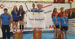 15 yaş Türkiye Şampiyonasından Badminton'da 4 altın madalya