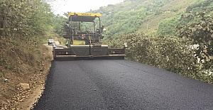 2017'de Trabzon'da yollara serilen asfalt miktarı 150 bin tonu aştı