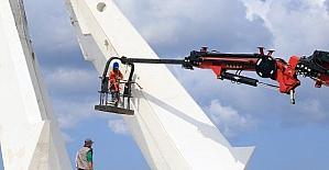 53 yıllık anıt onarıma alındı