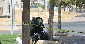 Ağacın dibine bırakılan valiz polisi alarma geçirdi