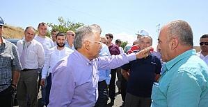 Ağırnas ile Barsama birbirine bağlayan 5 KM'lik yol tamamlandı