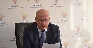 AK Parti Şırnak İl Başkanı istifa etti
