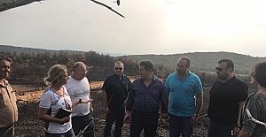 AK Partili milletvekili yanan alanda incelemelerde bulundu:
