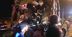 Alanya'da feci kaza: 1 ölü, 11 yaralı