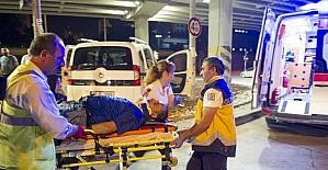 Alkollü sürücü aracıyla kavşağa çıktı: 2 yaralı