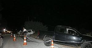 Alkollü sürücü dehşet saçtı : 1 ölü, 1 yaralı