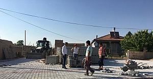 Ayrancı Belediyesinde kaldırım çalışmaları