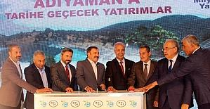 Bakan Eroğlu Adıyaman'da temel atma törenine katıldı